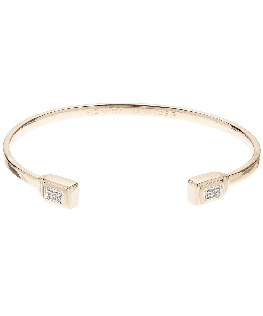 ROSE GOLD BAJA DECO THIN DIAMOND CUFF