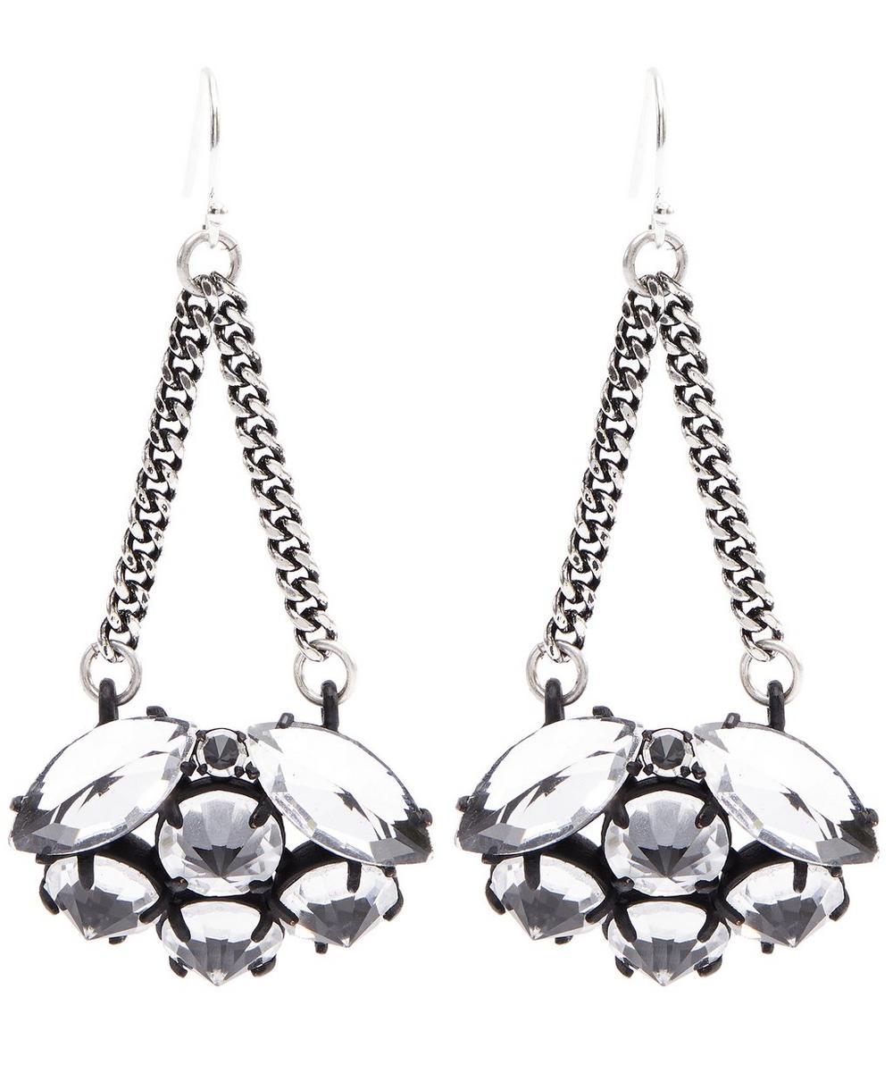 Silver-Plated Diamanda Drop Earrings
