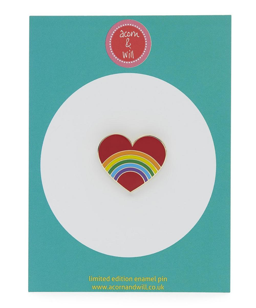 Rainbow In A Heart Enamel Pin Badge