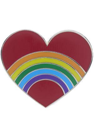 Rainbow In A Heart Enamel Pin Badge