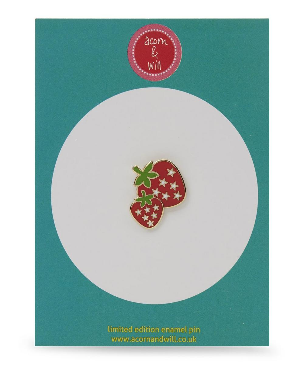 Strawberry Enamel Pin Badge