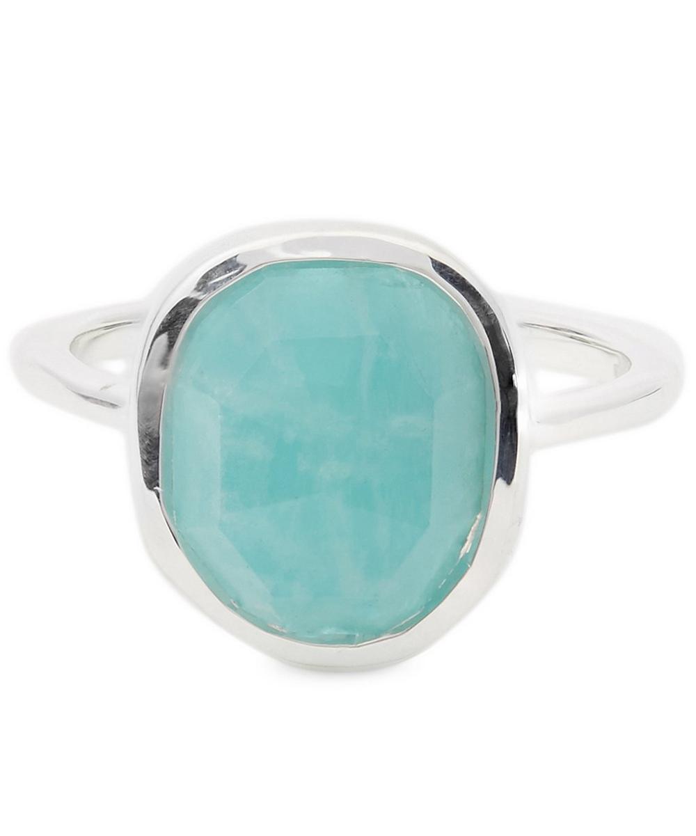 Sterling Silver Amazonite Siren Stacking Ring