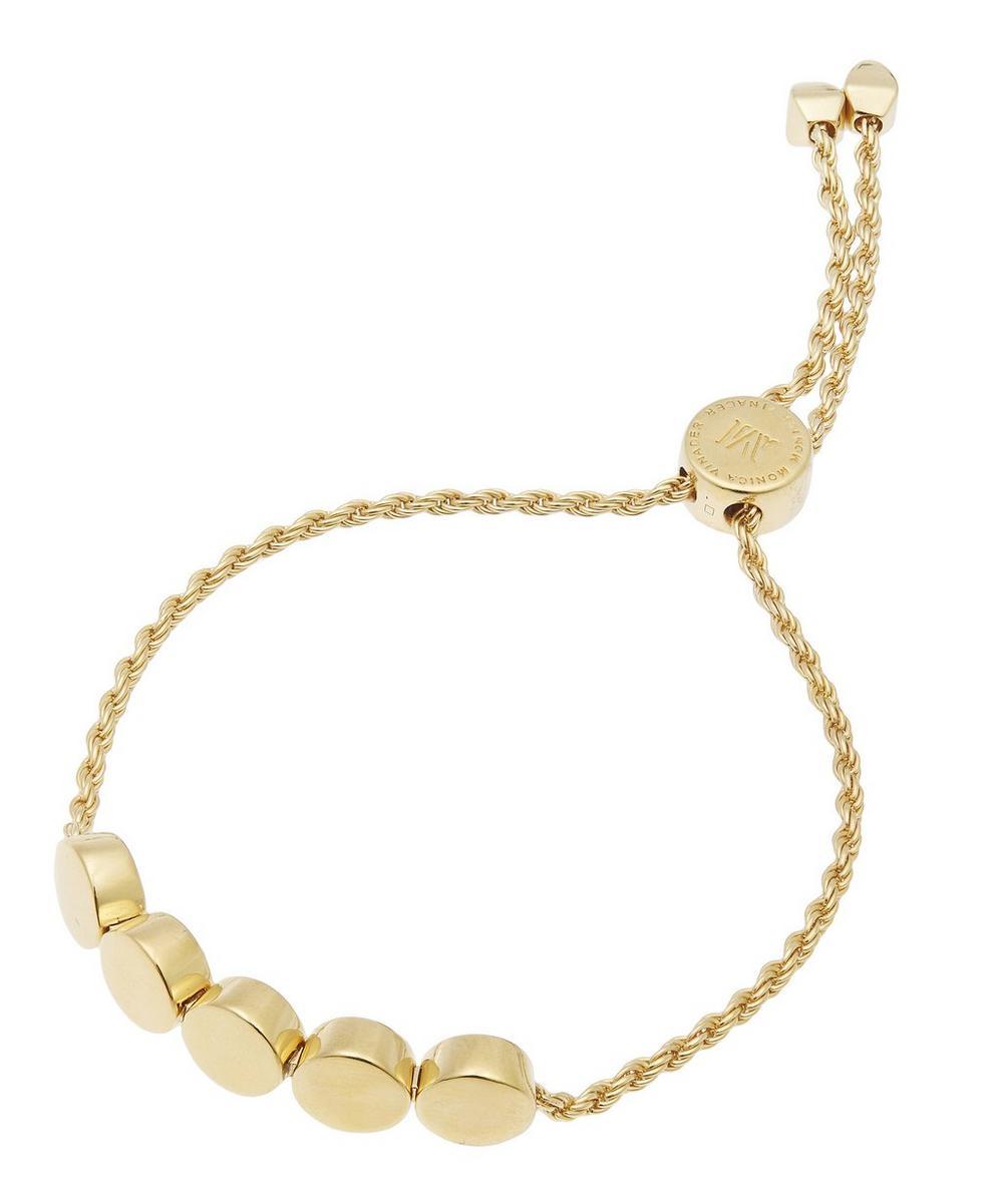 Gold-Plated Linear Bead Chain Friendship Bracelet