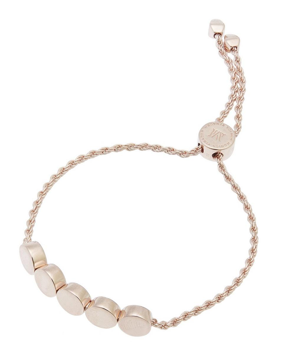 Rose Gold-Plated Linear Bead Chain Friendship Bracelet