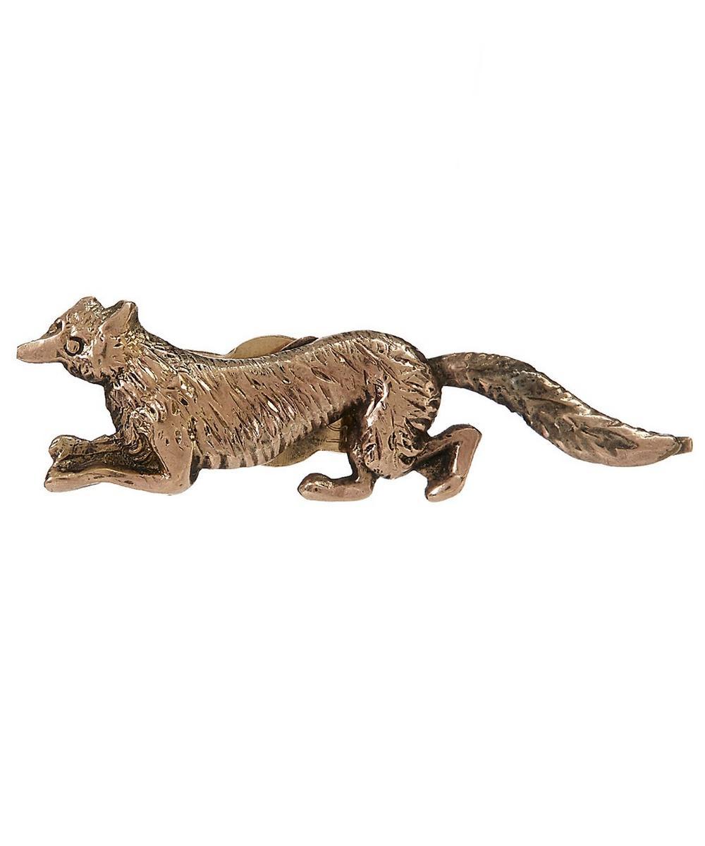 Gold Fox Single Earring