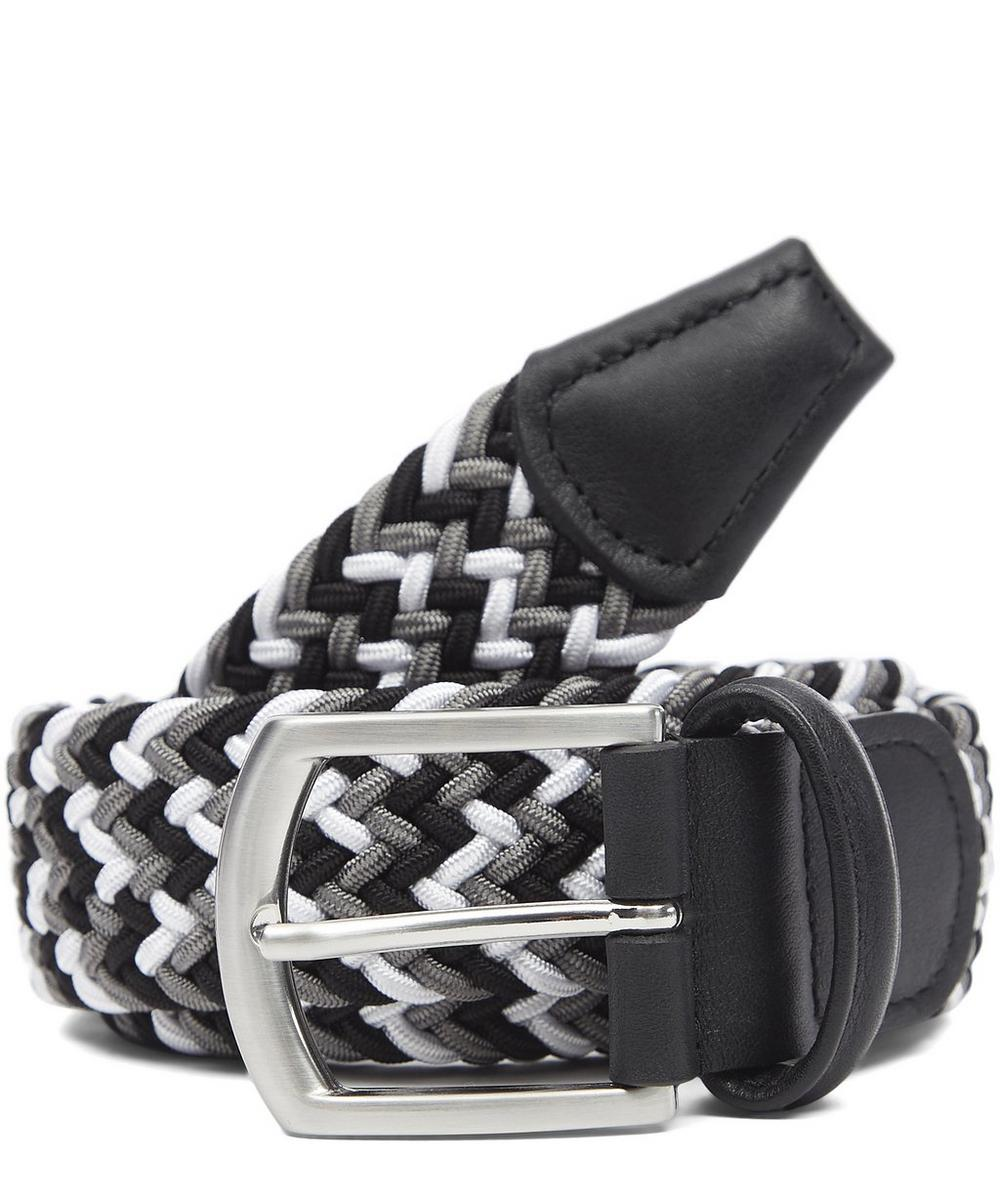 Multi Colour Zig Zag Woven Belt