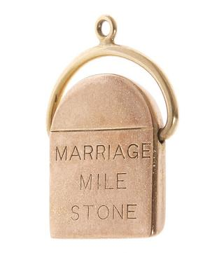Gold Marriage Milestone Charm