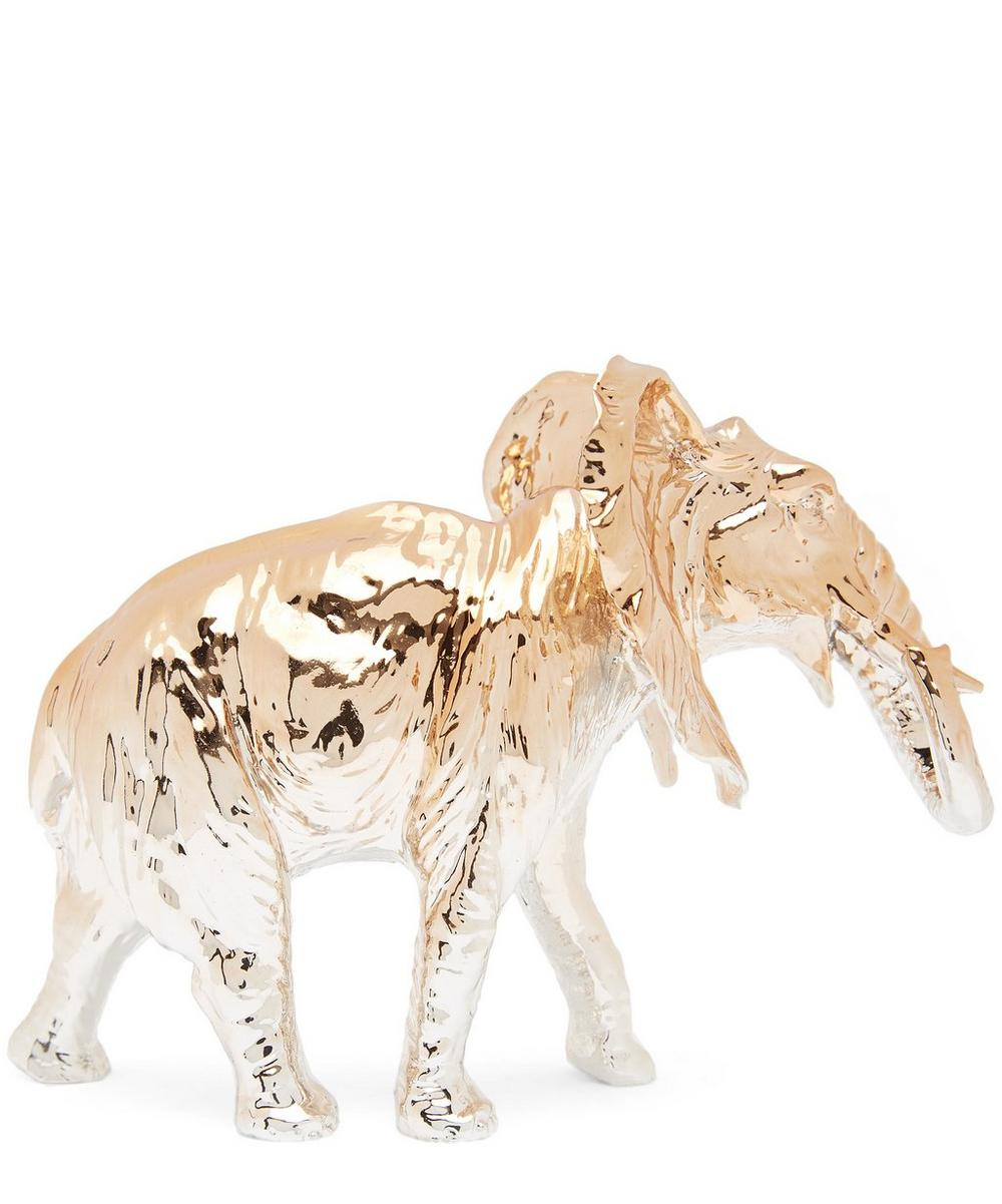 Gold Elephant Paperweight