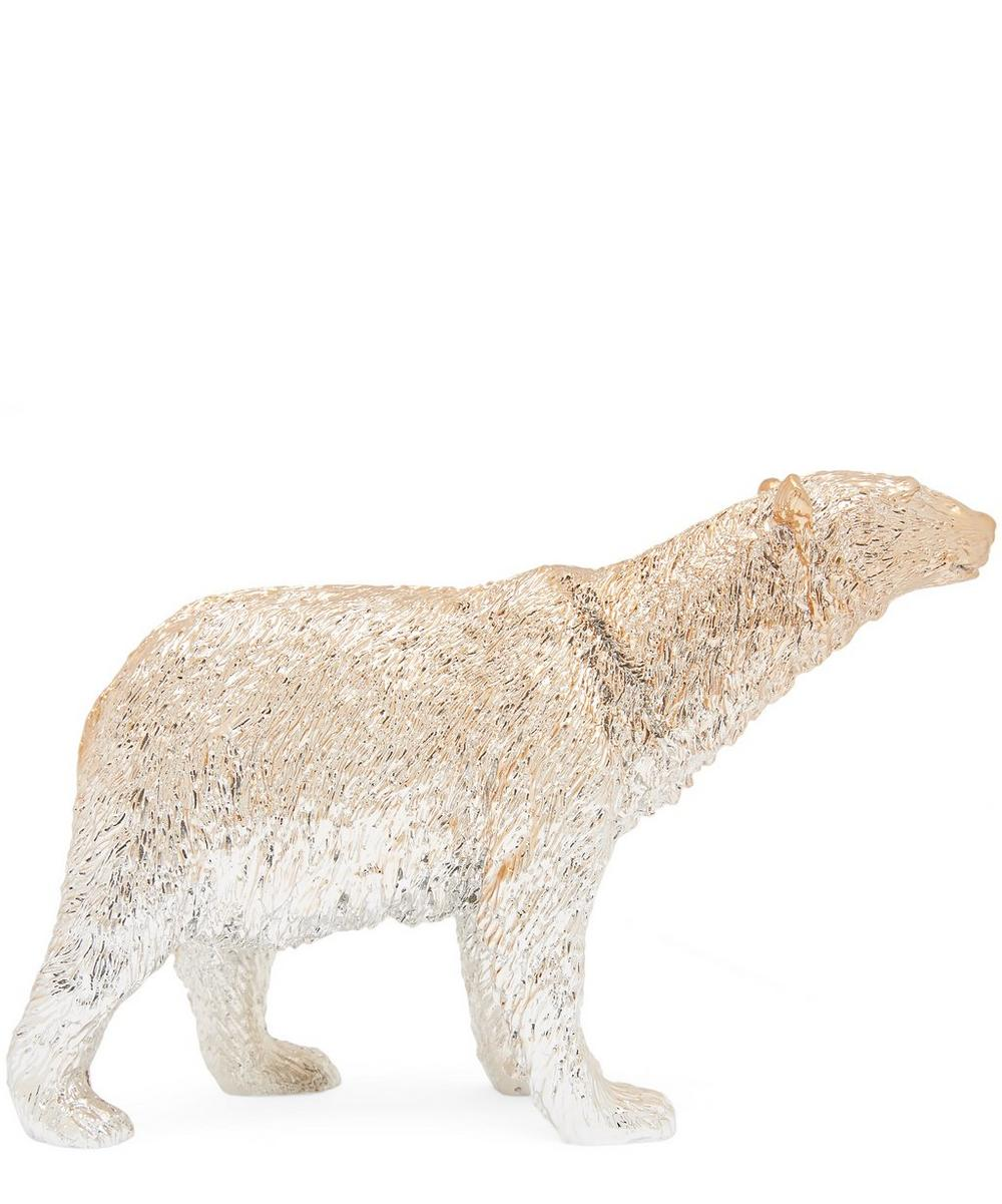 Gold Polar Bear Paperweight