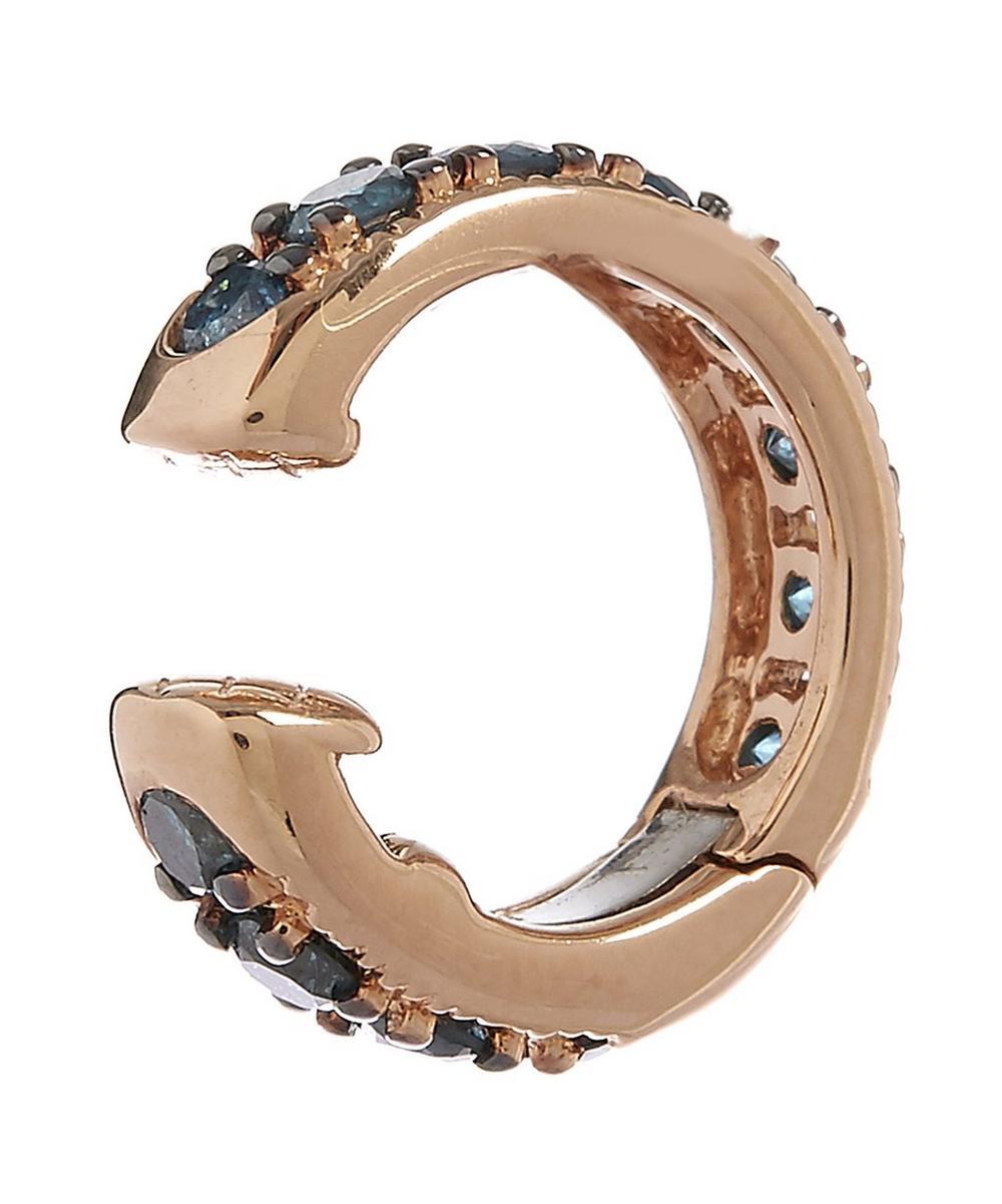 18ct Rose Gold Dusty Diamonds Hinged Ear Cuff
