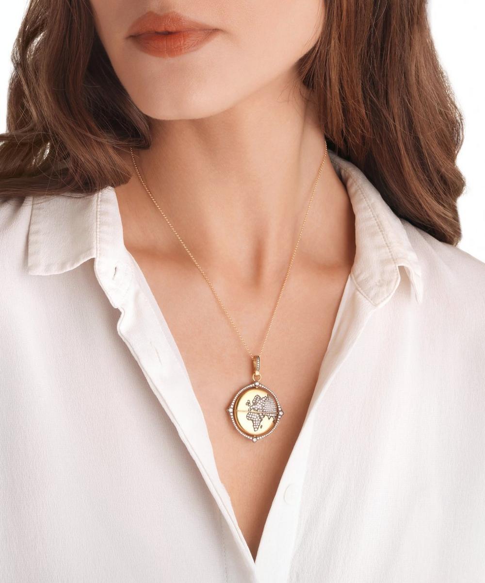 18ct Gold Mythology Diamond Globe Pendant