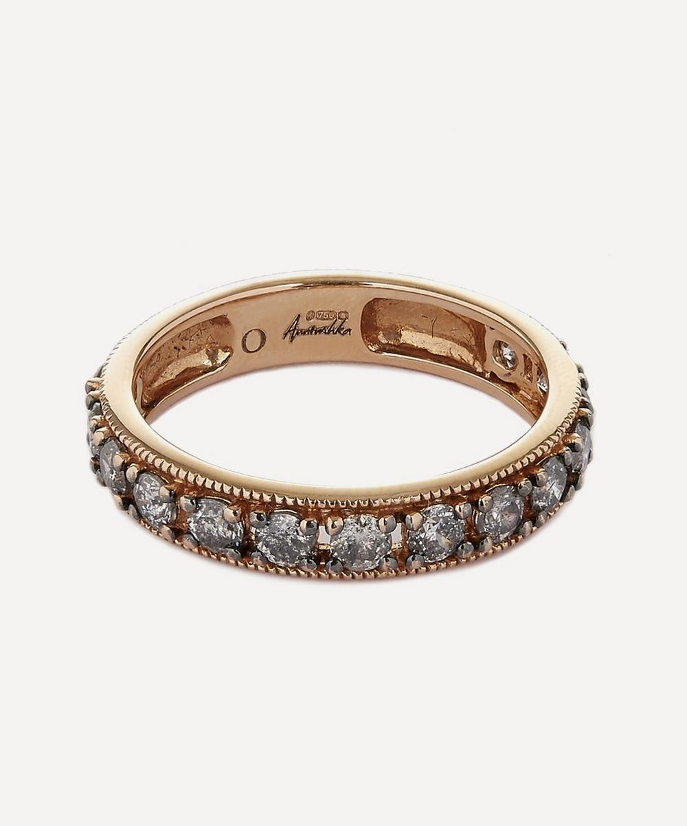 18CT ROSE GOLD DUSTY DIAMOND ETERNITY RING