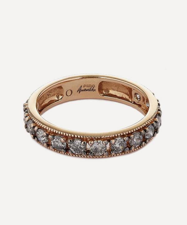 Annoushka - 18ct Rose Gold Dusty Diamonds Eternity Ring