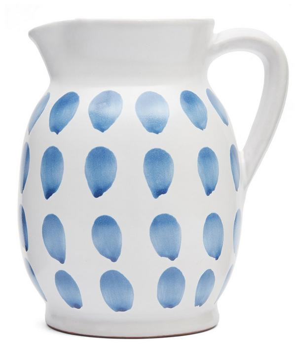 Blue Fresco Dots Jug