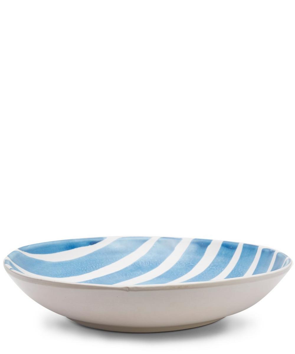 Blue Fresco Large Stripes Salad Bowl