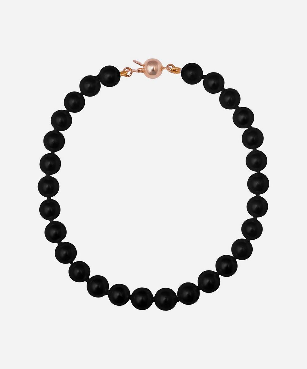 Gold and Black Freshwater Pearl Bracelet