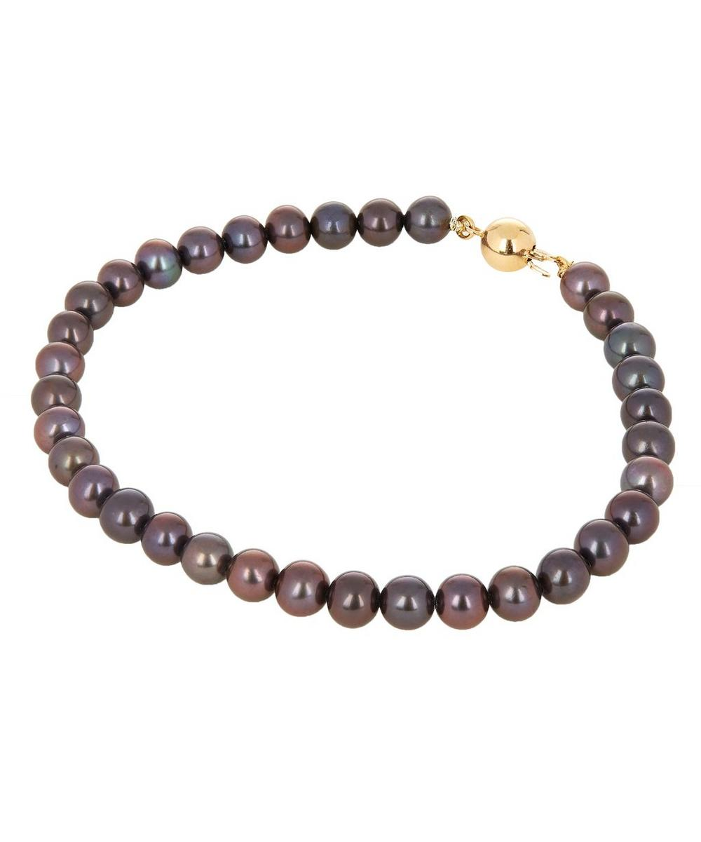 Gold and Black Freshwater Pearl Bracelet