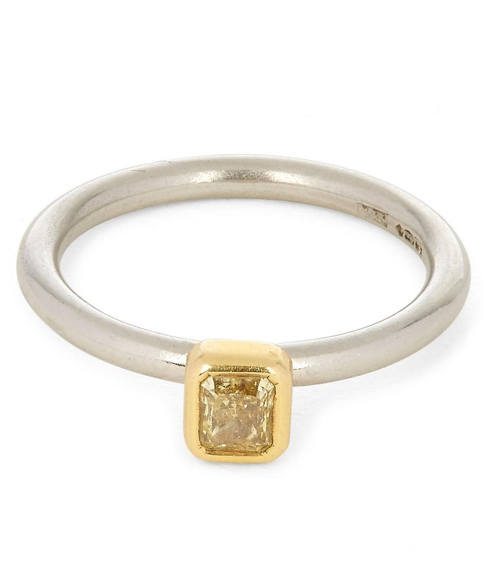 KOJIS GOLD FANCY YELLOW DIAMOND RING