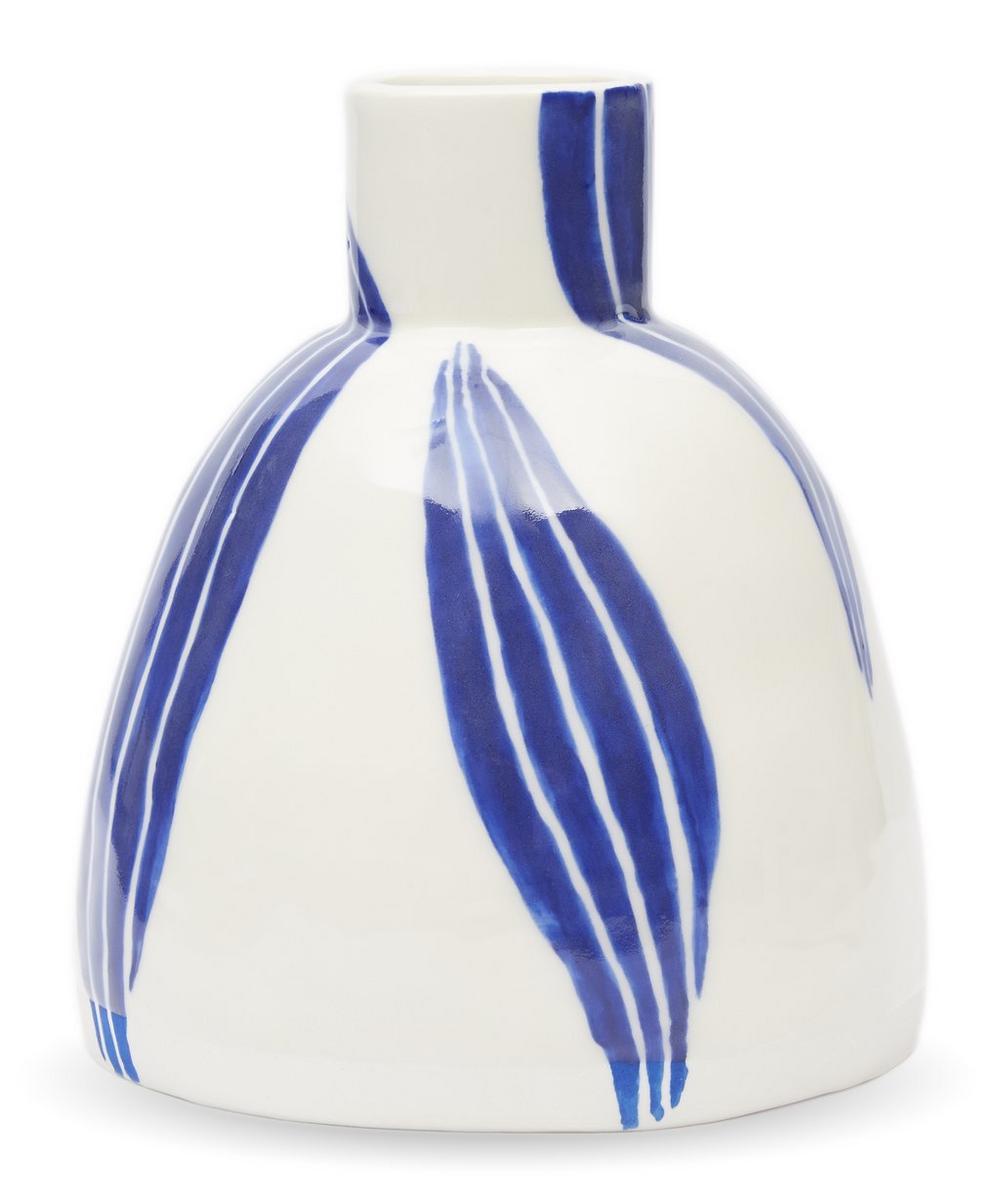 Small Bottle Vase With Leaf Motif