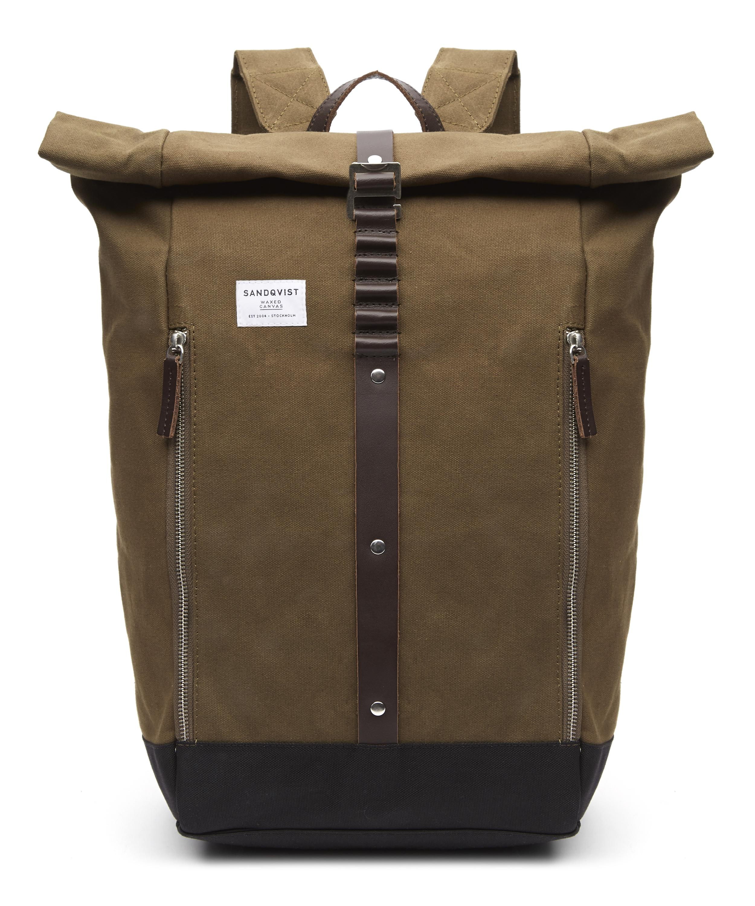 Rolf Roll-Top Waxed Canvas Backpack  60b7a6a34a87b