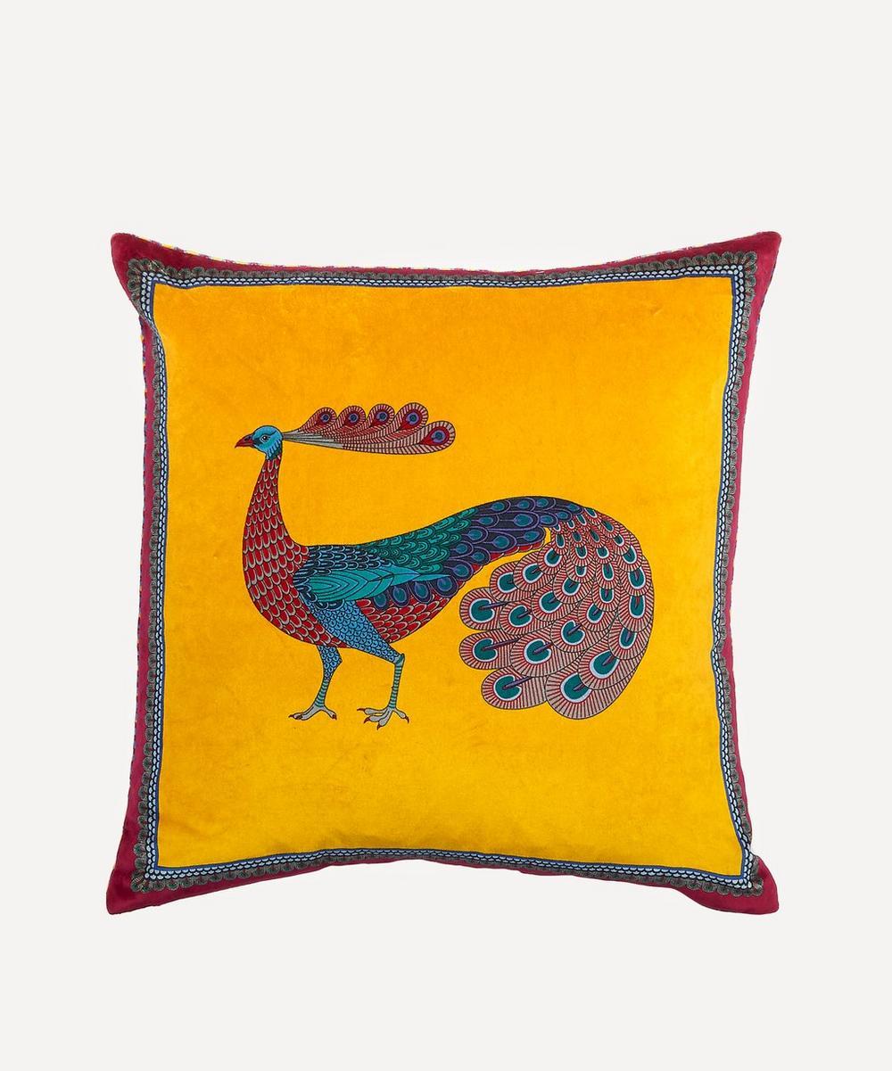 Liberty - Peacock Garden Velvet Cushion