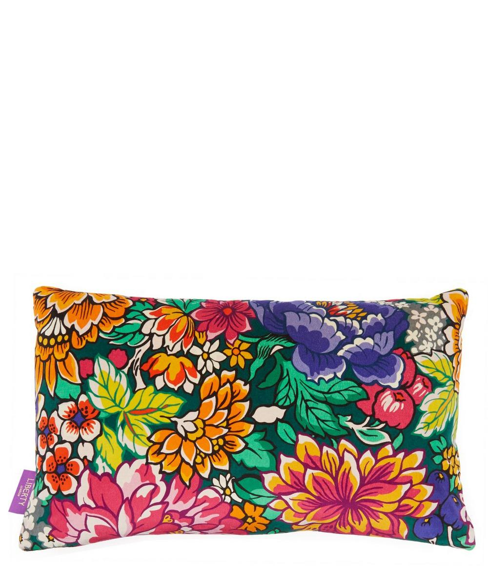 Garden of Beauty Velvet Bolster Cushion