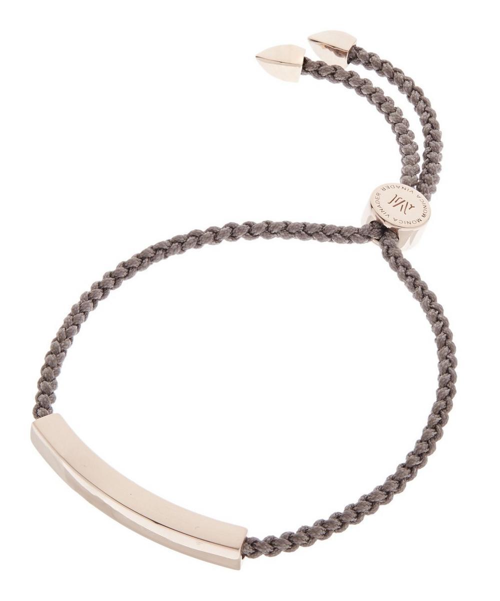 Rose Gold-Plated Mink Cord Linear Friendship Bracelet
