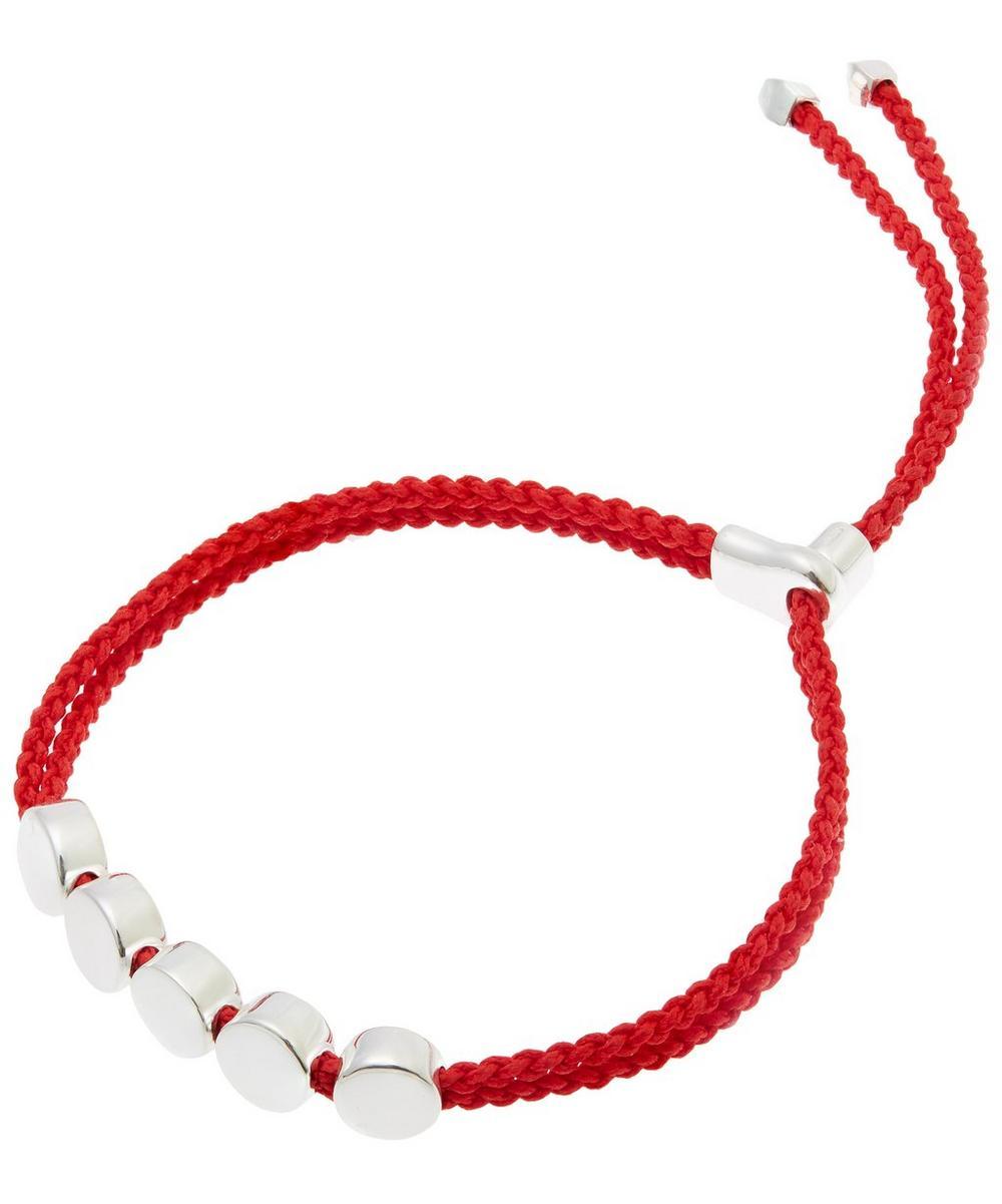 Silver Linear Bead Friendship Bracelet