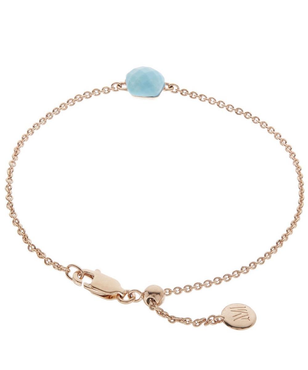 Rose Gold Vermeil Nura Turquoise Mini Nugget Bracelet