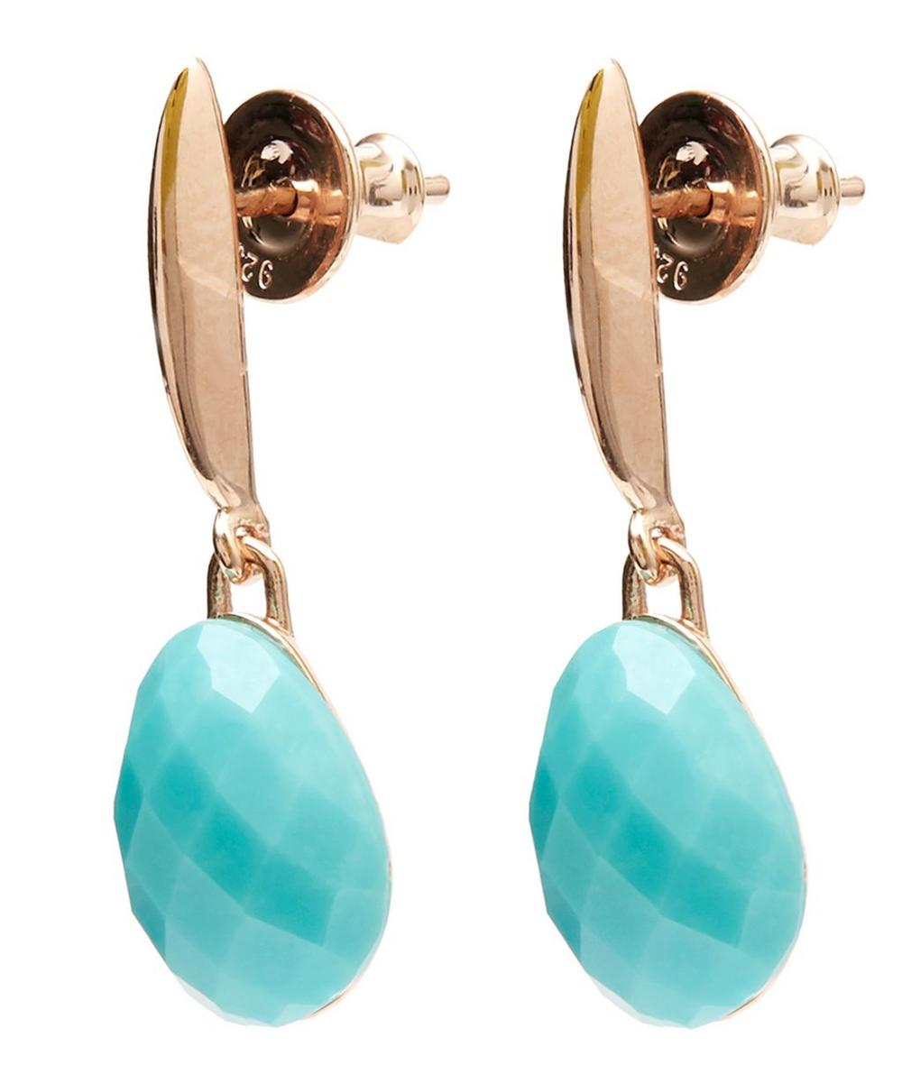 2a6c6f59ef698 Rose Gold Vermeil Nura Turquoise Small Teardrop Earrings   Liberty ...