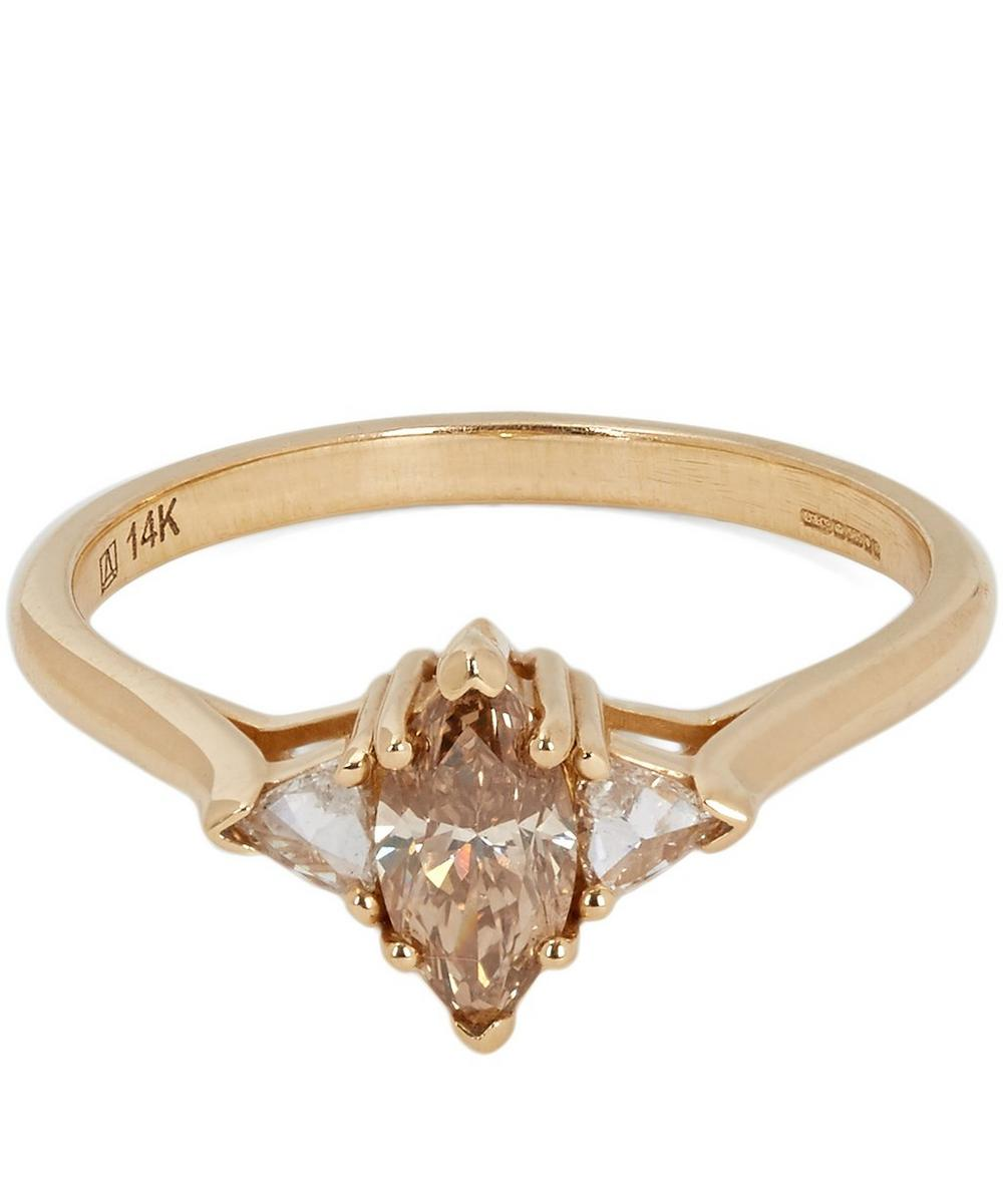 Champagne Diamond Marquise Bea Ring
