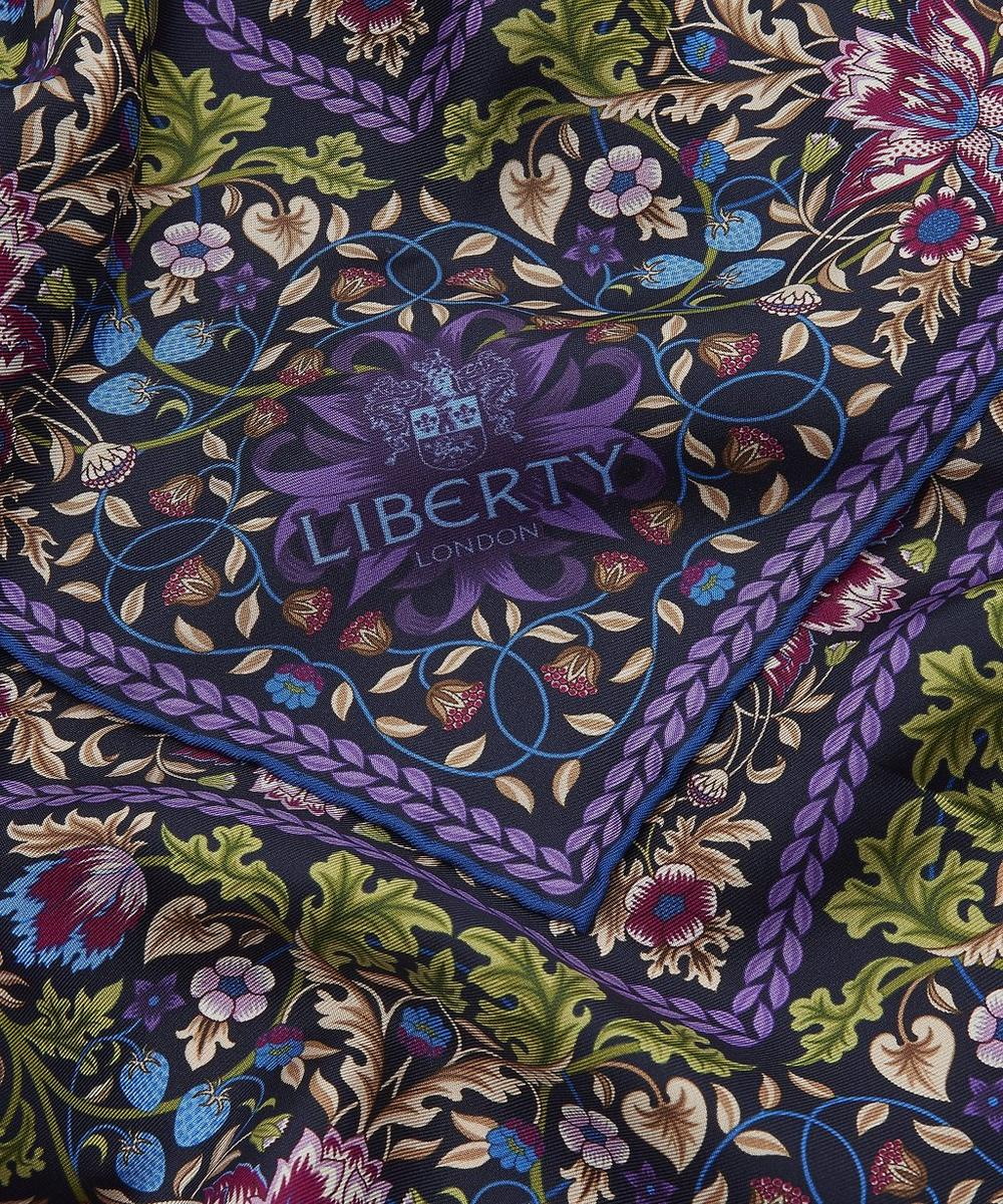 Strawberry Thief 90 x 90cm Silk Twill Foulard Scarf