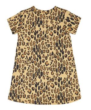 Basic Leopard Print Dress 2-6 Years