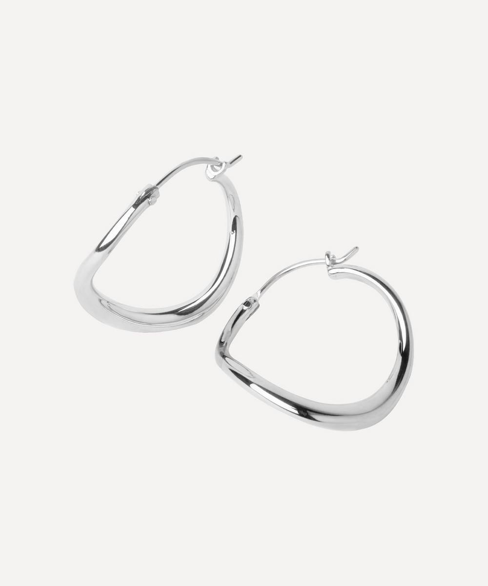 Small Wave Hoop Earrings