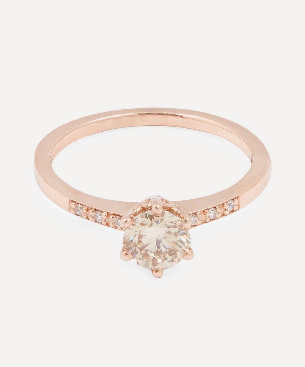 Rose Gold Diamond Hazeline Ring