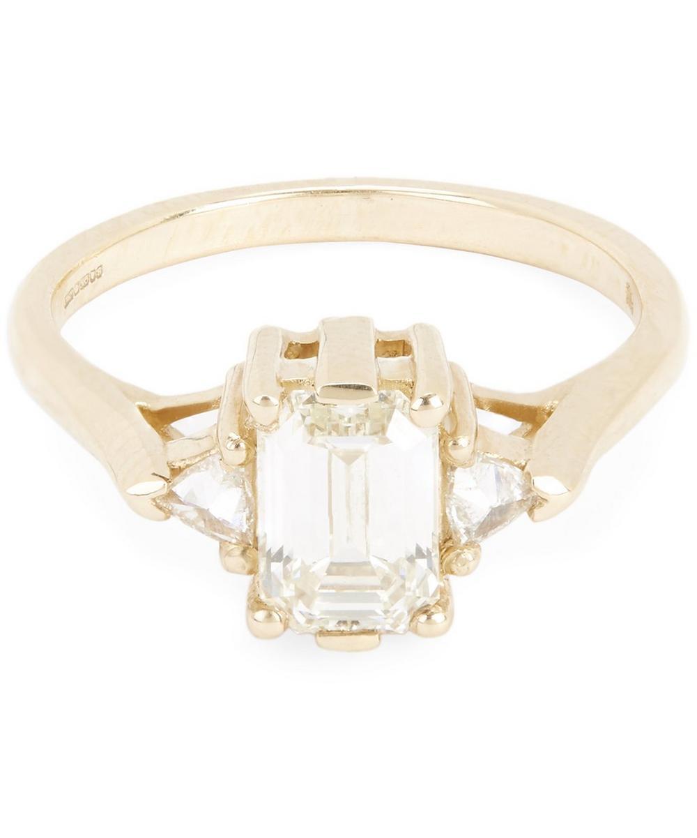 Gold Bea White Diamond Three Stone Ring