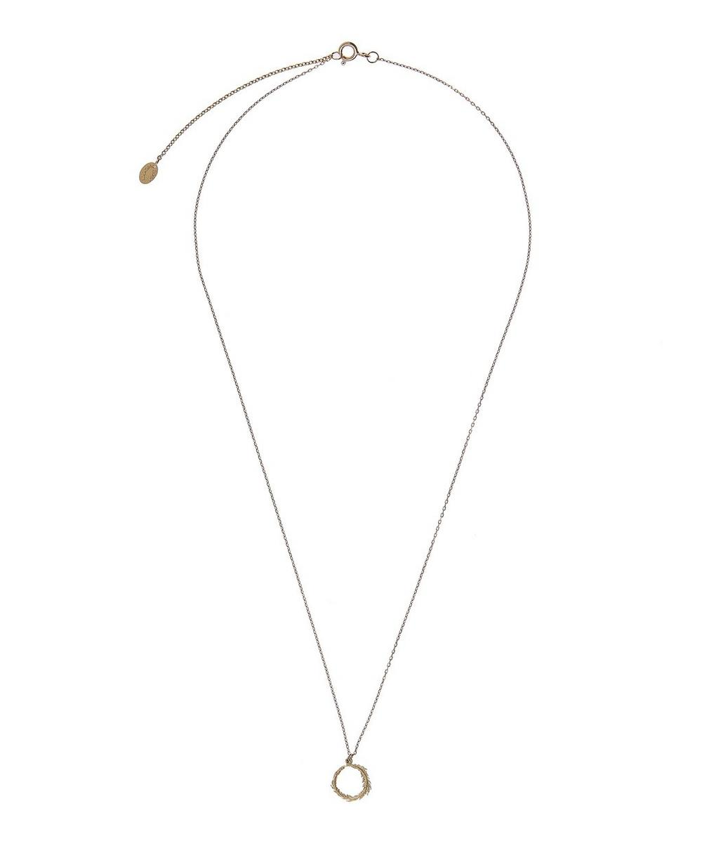 Gold Plume Loop Necklace