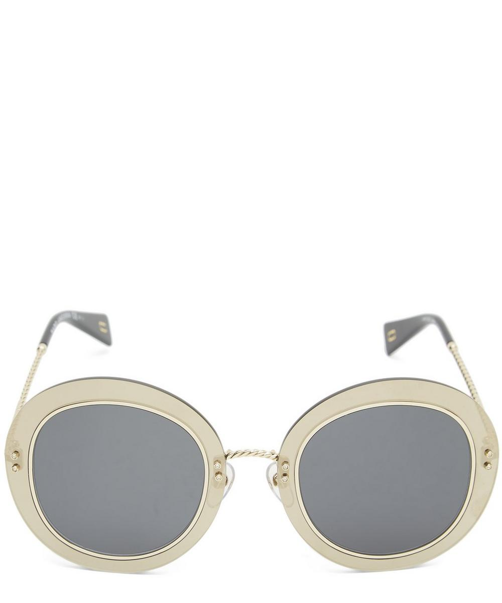 Circular Metal Twist Sunglasses