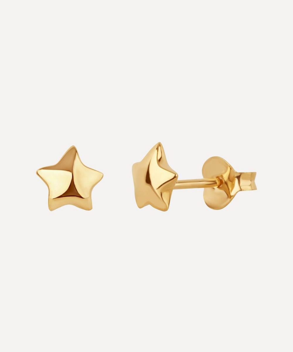 Gold-Plated Bijou Star Stud Earrings