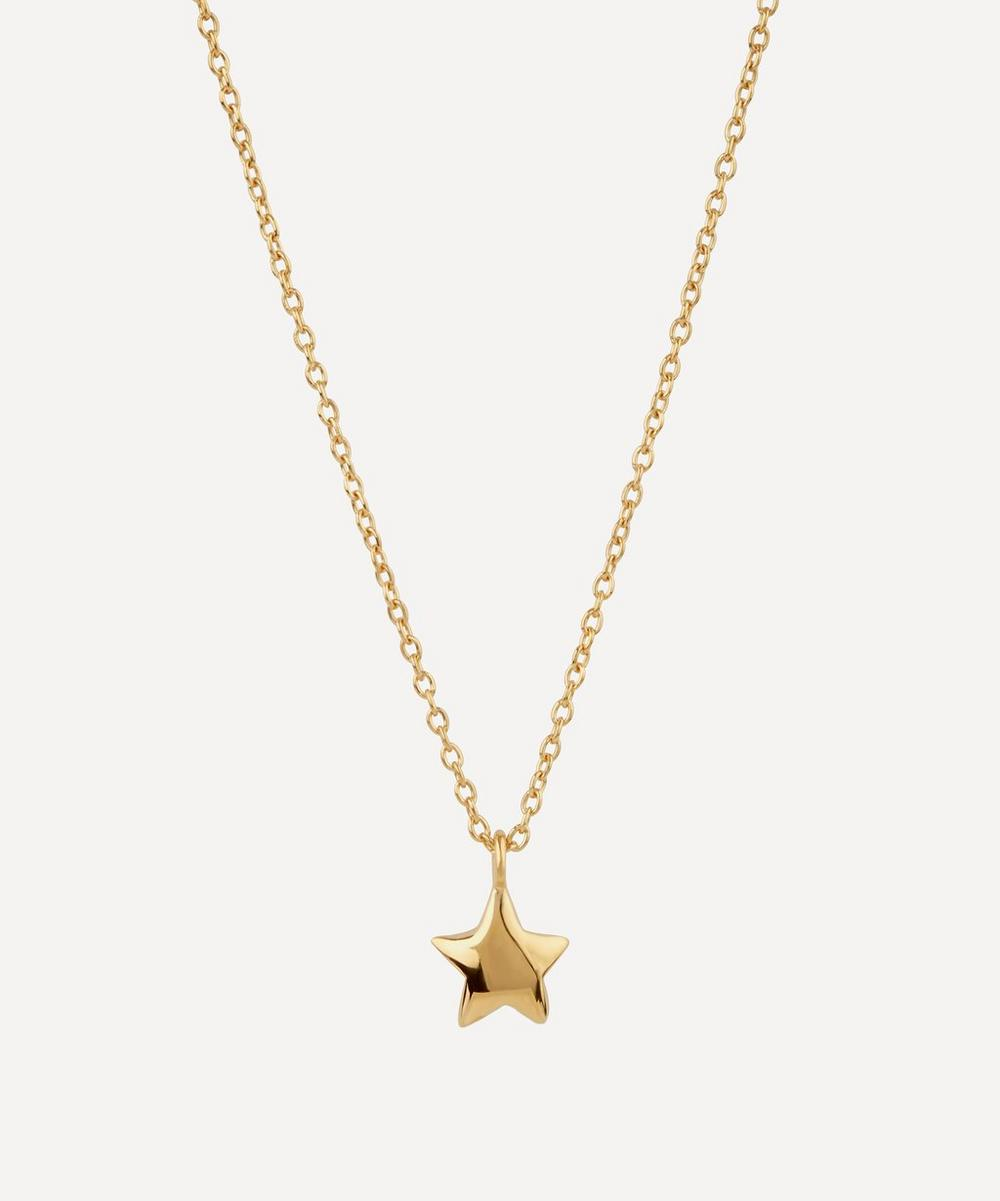 Gold-Plated Bijou Star Pendant Necklace