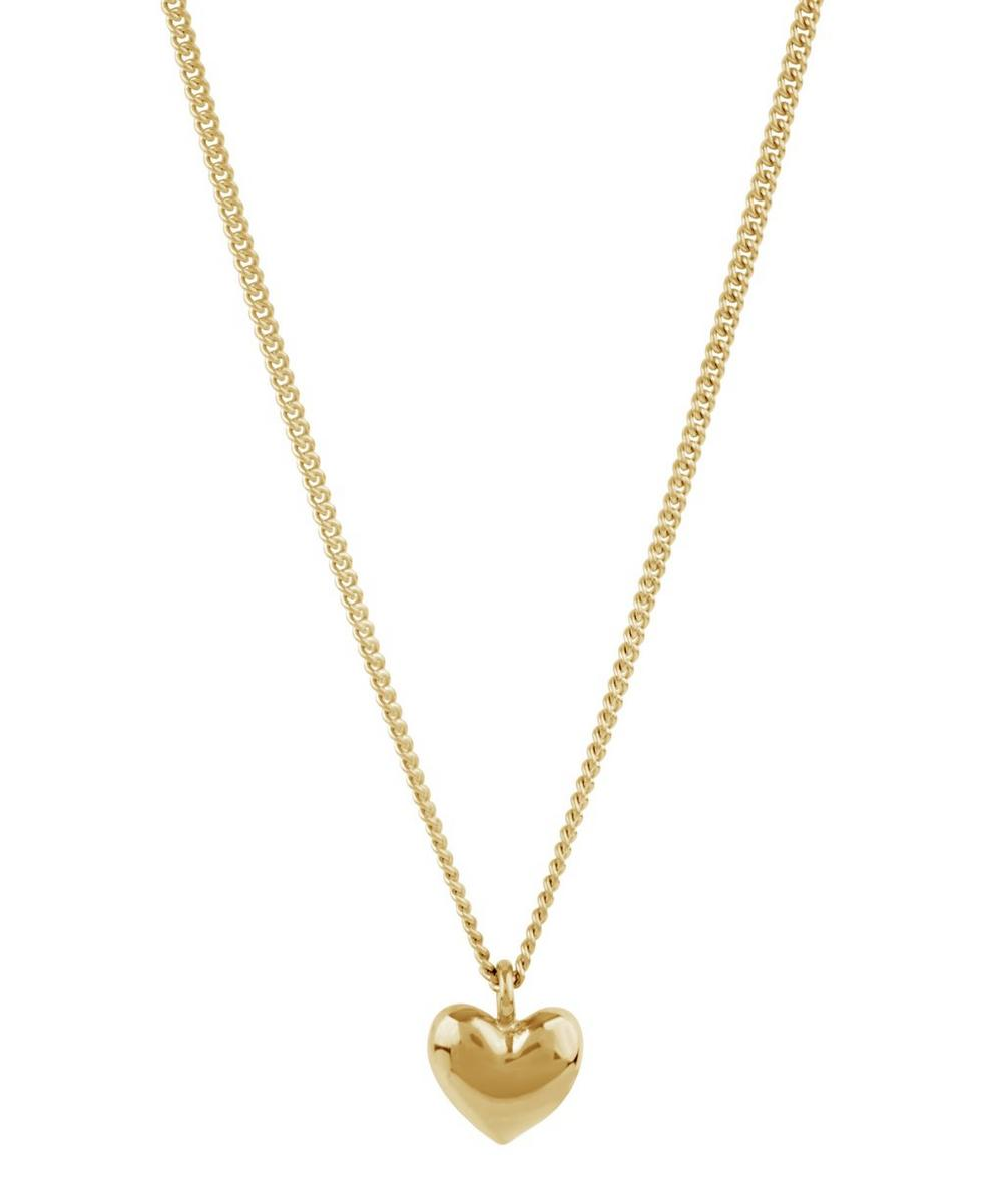 Gold-Plated Bijou Heart Pendant Necklace