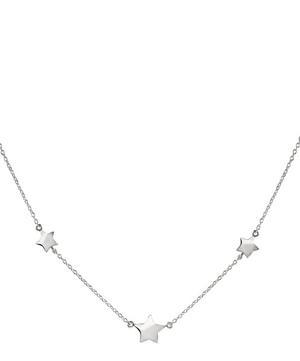 Silver Bijou Three Star Necklace