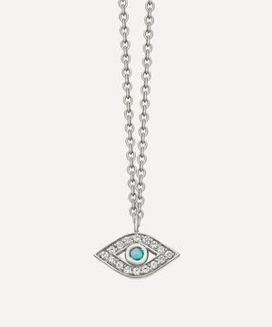 Biography Mini Evil Eye Pendant Necklace