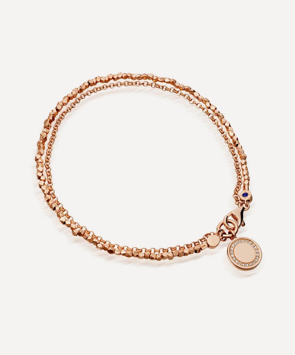 Astley Clarke Rose Gold Cosmos Sapphire Biography Bracelet