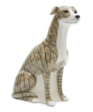 Large Brindle Greyhound Vase