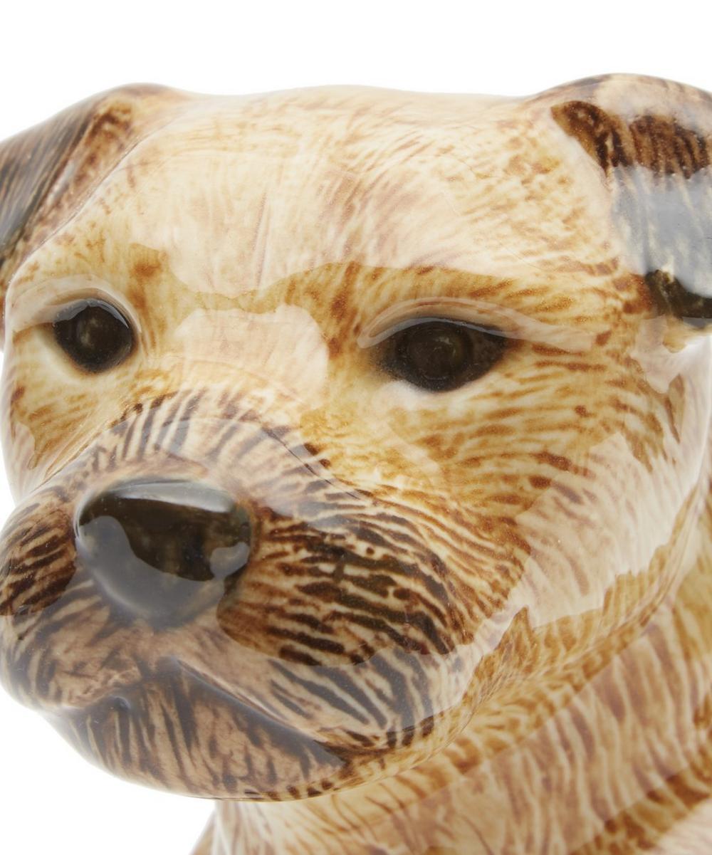 Large Border Terrier Vase