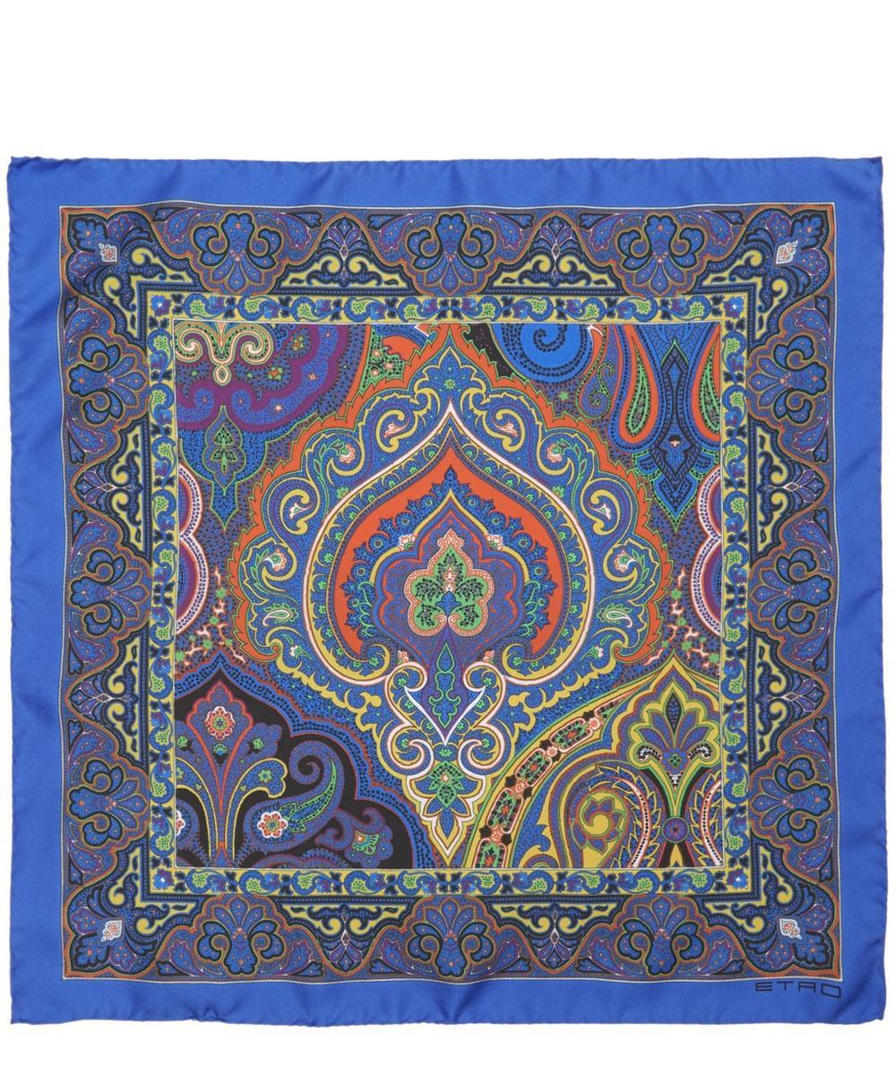 Blue Bangalore silk foulard Etro 8BbgTyTBqe