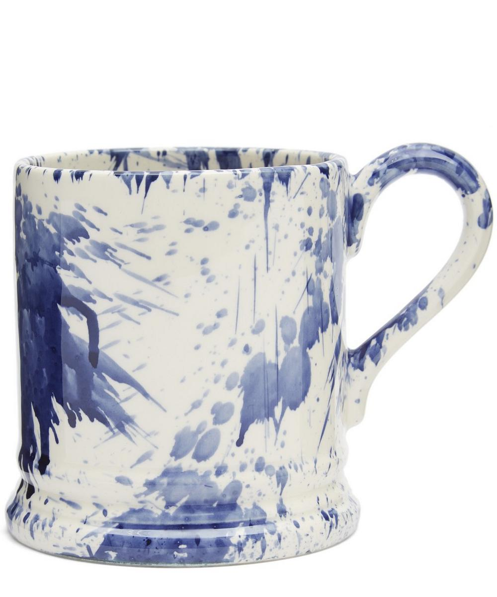 Blue Splatter Half-Pint Mug