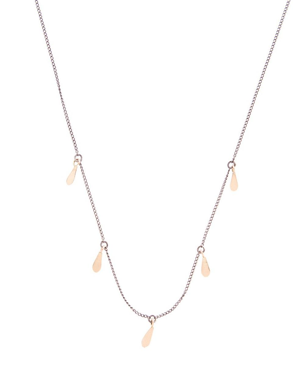Gold and Silver Seed Necklace