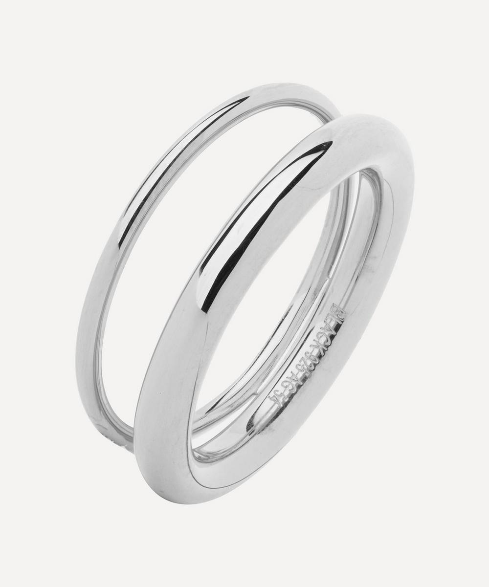 Silver Offset V Ring